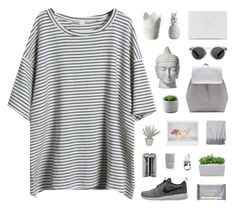 """Wina"" by nauditaolivia ❤ liked on Polyvore featuring NIKE, Zara, Illesteva, Stray Dog Designs, Pamela Love, Sofia Cashmere, Balenciaga and Dermalogica"
