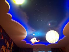 дизайн потолков из гипсокартона и натяжных со светодиодными лентами - Поиск в Google