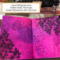 Video Walk Through Large Dylusions Art Journal