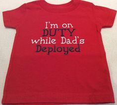 Military Deployment Children's Tee Shirt by ButterfliesnDreams