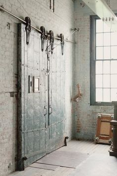 Three Doors On One Continuous Track Sliding Barn Door . Rustic 100 Sliding Barn Door Hardware Kit P C Henderson. Sliding Barn Door Hardware Kit With 9 Feet Track 108 . Home and Family Industrial Closet, Industrial Door, Industrial Living, Industrial Interiors, Modern Industrial, Vintage Industrial, Industrial Bookshelf, Industrial Apartment, Industrial Bathroom