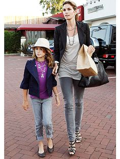 cindy crawford style | Cindy Crawford and Kaia: Coordinated Cool – Moms & Babies – Moms ...