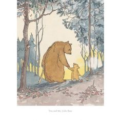 Barbara Firth - You and Me Little Bear - limited edition Collectors Print (Martin Waddell, Can't You Sleep Little Bear?)
