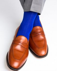 Clematis Blue Ribbed Linked Toe Mid-Calf