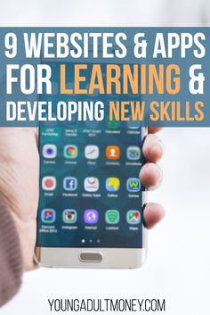 Learn new skills online or on the go for free or cheap with any of these 9 websites and apps. Online Education Courses, Right To Education, Education Degree, Education College, College Mom, Going Back To College, Online College, Free Learning Apps, Learning Skills