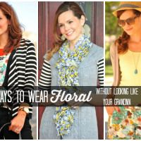 Four Ways to Wear Floral #floral #trend