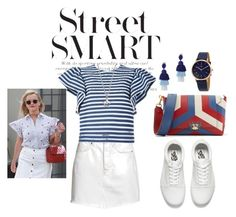 """Street wear 😍"" by ladypeacful ❤ liked on Polyvore featuring H&M, MSGM, Vans, Anya Hindmarch, Oscar de la Renta, DKNY and Diamond Star"