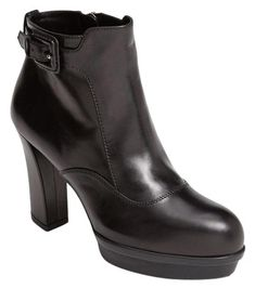 8bc5c441f99d Black New Platform Leather Ankle Boots Booties
