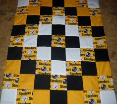 Handmade Pittsburgh Steelers CribSize Quilt by OzarkMountainQuilts, $30.00
