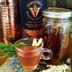 RECIPE: The Lavender Honey Hot Toddy  (makes one cocktail): 1 1/2 ounces Virginia Highland Malt Whisky;  2 teaspoons fresh lemon juice;  *1 tablespoon lavender simple syrup;  *2 teaspoons of honey simple syrup; Lemon peel, for garnish;    Mix all ingredients in a mug. Then, top with hot water, stir and garnish with lemon peel. *See website to learn how we make our honey/lavender simple syrups.