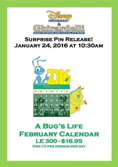 A Bugs Life February Calendar Pin Released