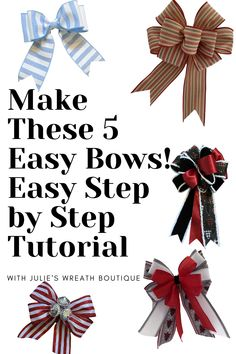Make a bow easily with simple step by step instructions by hand and using a Pro Bow the Hand. Bow Making, How to make a bow by hand, Bow makers, easy to follow tutorial, Bows, Bows for Christmas, Bows for gifts, Christmas Tree Bows, Christmas Decorating, DIY Home Decore, Ribbon, Make a Bow, Easy Bow, Looped Bows, #homediy #christmas #howtomakeabow Gift Ribbon, Gift Bows, Ribbon Bows, How To Make A Bow With Ribbon, Ribbons, Wreath Crafts, Diy Wreath, Make A Wreath Bow, Wreath Bows