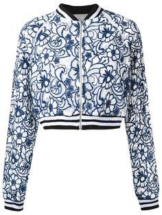 5cca078db28 Martha Medeiros - Floral Lace Bomber Jacket - Women - Silk