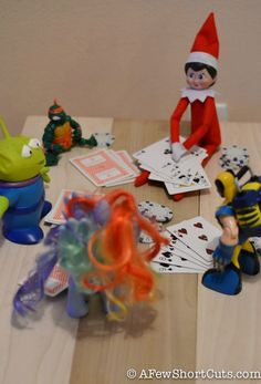 Elf on the shelf Idea: Poker night. I might go with Go Fish, though.