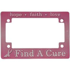 Find A Cure Pink Ribbon MC License Plate Frame
