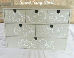 Sweet Song Bird: Stenciled IKEA Organizer