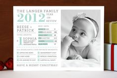 Year in Review Christmas Photo Cards by j.bartyn at minted.com......This was our Christmas card we sent out last year......kind of sad we can't send it out again :)