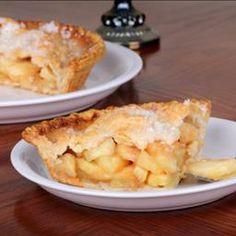 Apple Pie Filling - 6 medium cooking apples - sugar - brown sugar - flour - lemon - cinnamon - nutmeg