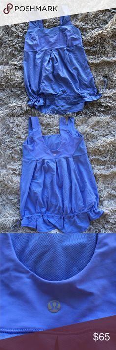 NWOT Lululemon Yoga tank ✨ NWOT super comfy lululemon tank! pull closure at the waist for the best fit! Killer Lilac color for a pop of color! lululemon athletica Tops Tank Tops
