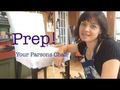 Parsons Chair Tutorial Part One - Prep! - YouTube