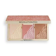 Revolution Pro Crystal Luxe Face Palette Rose Fresco | Revolution Beauty Official Site Highlight And Contour Palette, Contouring And Highlighting, Chocolate Palette, Highlighter And Bronzer, Makeup To Buy, Makeup Obsession, Makeup Revolution, Fresco, Eyeshadow Palette