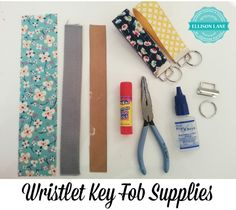 wristlet key fob Tutorial .. supplies from ellison lane