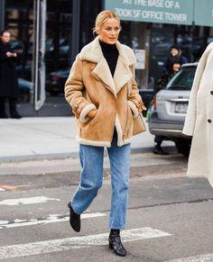 "Be Daze Live on Instagram: ""An effortless way to style a shearling jacket ✨✨ . . . 📸 @carolynmurphy via @sandrasemburg . . . #fashion #style #stylish #fashion2019…"""