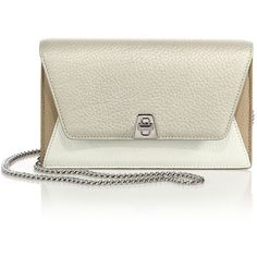Akris Anouk Mini Metallic Multicolor Leather Envelope Crossbody Bag (16.373.990 IDR) ❤ liked on Polyvore featuring bags, handbags, shoulder bags, apparel & accessories, white stucco, crossbody purse, leather handbags, leather shoulder handbags, handbags shoulder bags and handbags crossbody
