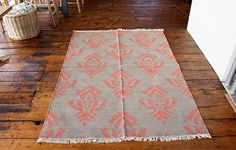 Fleur De Lys Rug (Mocha/Terracotta) - WARINGS Store Available on http://www.waringsathome.co.uk/for-the-home/rugs.html?limit=all