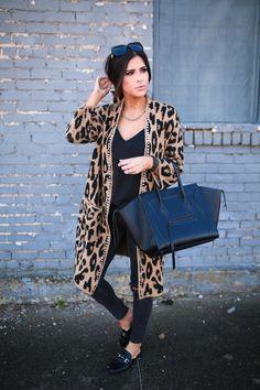 DECEMBER 26, 2017 Oversized Cardigan & Closet Staple Look - OUTFIT DETAILS CARDIGAN: Joe's Jeans | CAMI: Express | DENIM: old but I love my DL1961 jeans! | FLATS: Target | NECKLACE: Victoria Emerson c/o | BRACELET: Victoria Emerson c/o | BAG: Celine [Phantom]