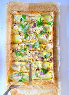 plaattaart met courgette - #zucchinitart #pastry #veggie