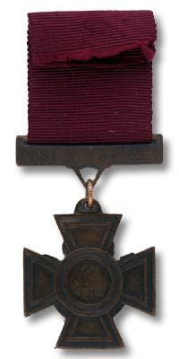 Back side of the Victoria Cross awarded to Cpl. Christian Ferdinand Schiess (Natal Native Contingent).