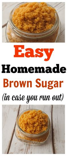 Have you ever wanted to make something that needed brown sugar but then you realize you don't have any or don't have enough? Soften Brown Sugar, Make Brown Sugar, How To Make Brown, Substitute For Brown Sugar, Cookie Recipes From Scratch, Recipe From Scratch, Homemade Spices, How To Make Homemade, Homemade Recipe