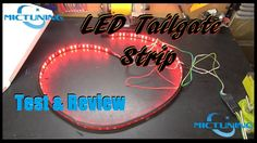 """Mictuning 60"""" LED Tailgate Light Strip Test & Review Led Work Light, Led Light Bars, Work Lights, Bar Lighting, Strip Lighting, Bar Led, Jeep Life, Led Strip, Neon Signs"""