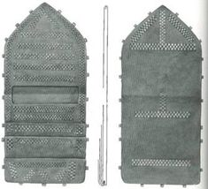 Reconstruction of leather wallet from Birka, Grave 750.  (Arbman, Taf. 130).