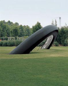 Claes Oldenburg and Coosje van Bruggen, Bicyclette Ensevelie (Buried Bicycle), Parc de la Villette, Paris, 1990