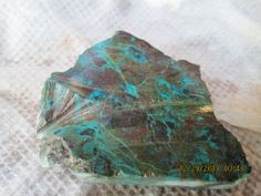 Large Thick Cut Turquoise Green Chrysocolla by mnblarneystone, $20.00