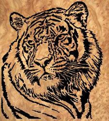 07-A6-3+-+Tiger+Downloadable+PDF+Scroll+Saw+Pattern