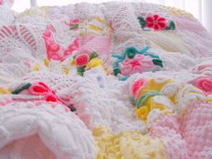 RESERVED FOR NATALIE Vintage Chenille Patchwork by thepinkpalace
