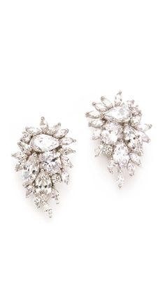 Kenneth Jay Lane Waterfall Earrings (Shopbop, $169.00) - teardrop cubic zirconia crystals, dramatic sparkle, elegant.