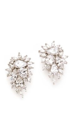 Kenneth Jay Lane Waterfall Earrings (Shopbop, $169.00) - teardrop cubic zirconia crystals, dramatic sparkle, elegant.