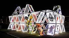 House of cards, art installation
