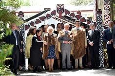 Prince Charles and Camilla Duchess of Cornwall visit Turangawaewae Marae in Ngaruawahia Wa...