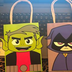 Teen Titans Go Party FAVOR BAGS/ Teen Titans Birthday Party | Etsy Teen Titans Characters, Teen Titans Go, Party Favor Bags, Treat Bags, Pikachu, Birthday Parties, Etsy, Goodie Bags, Anniversary Parties