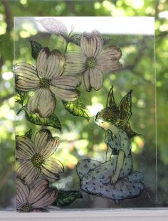 This stained glass look is easy to achieve! You'll need some small thin sheets of plexiglass, which is inexpensive and easily found online. Blessings, Stained Glass, Stamps, Blessed, Fine Art, Nature, Projects, Fun, Seals