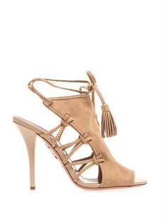 Aquazurra Sahara suede sandals MATCHESFASHION.COM #MATCHESFASHION