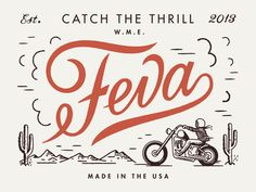 FEVA logo design script