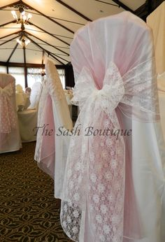 Wedding Chair Cover Hire Sunderland Hammaka Nami 29 Best The Sash Boutique My Business Images Dusky Pink Organza Hoods Ivory Lace Bows