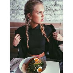 double french braids romee strijd