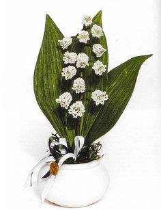 bouquet of lilies of the valley of beads  (Russian)